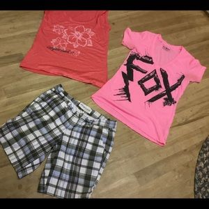 Lot of fox,Aeropostale tees med n shorts 1/2